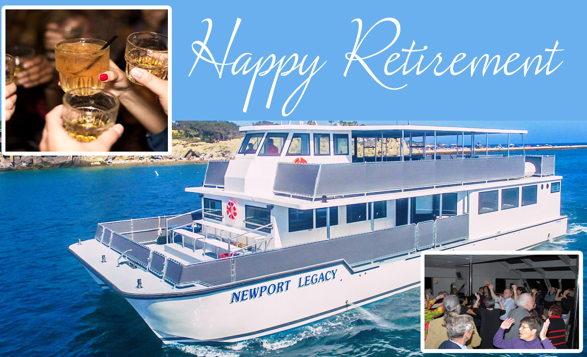 Rental Yacht for Retirement Party